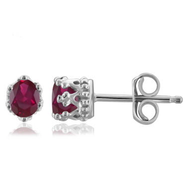 jcpenney.com | Oval Red Ruby Sterling Silver Stud Earrings