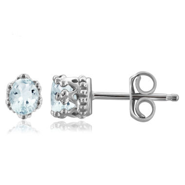 jcpenney.com | Oval Blue Aquamarine Sterling Silver Stud Earrings