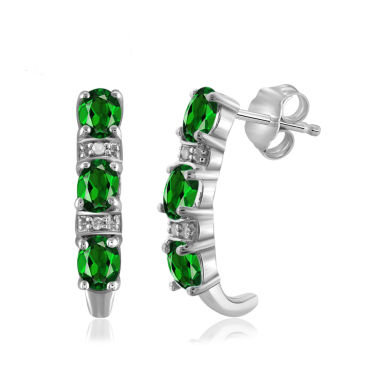 jcpenney.com | Diamond Accent Green Chrome Diopside Sterling Silver Drop Earrings