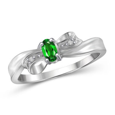jcpenney.com | Womens Diamond Accent Green Chrome Diopside Sterling Silver Delicate Ring