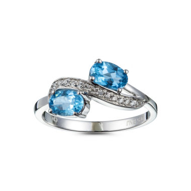 jcpenney.com | Womens Blue Topaz Sterling Silver Bypass Ring