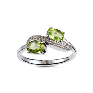 jcpenney.com | Womens Green Peridot Sterling Silver Bypass Ring