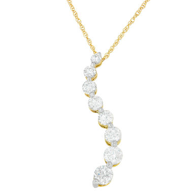 jcpenney.com | Womens 3 CT. T.W. White Diamond 14K Gold Pendant Necklace