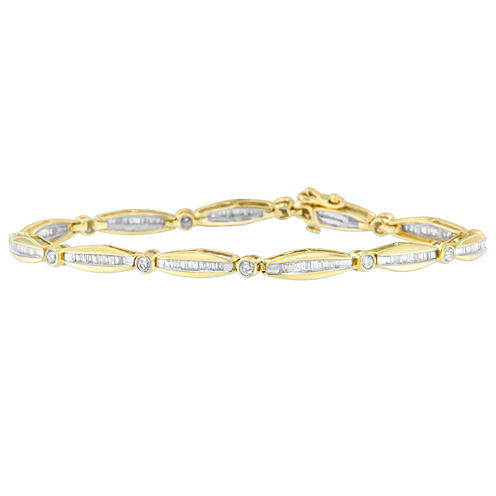 Womens 1 1/2 CT. T.W. White Diamond 14K Gold Tennis Bracelet