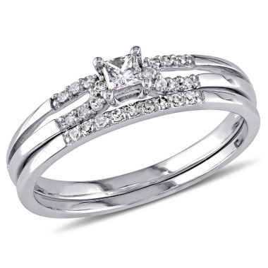 jcpenney.com | 1/5 CT. T.W. White Diamond 10K Gold Bridal Set