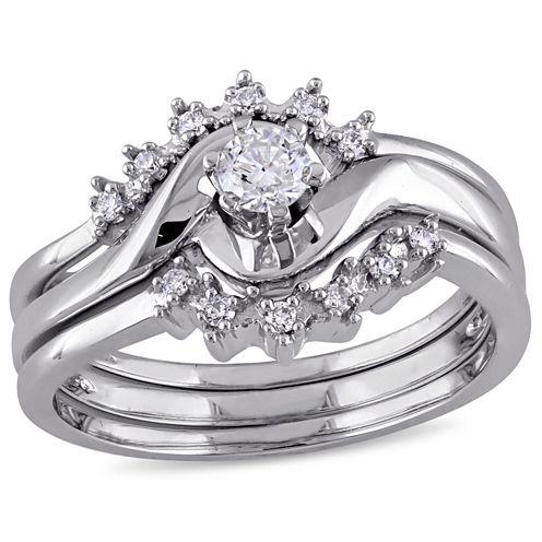 1/4 CT. T.W. White Diamond 14K Gold Bridal Set