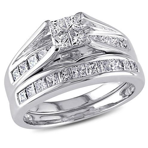 1 CT. T.W. White Diamond 14K Gold Bridal Set
