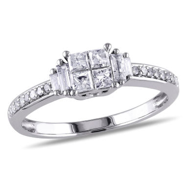 jcpenney.com | 1/2 CT. T.W. Princess White Diamond 10K Gold Engagement Ring