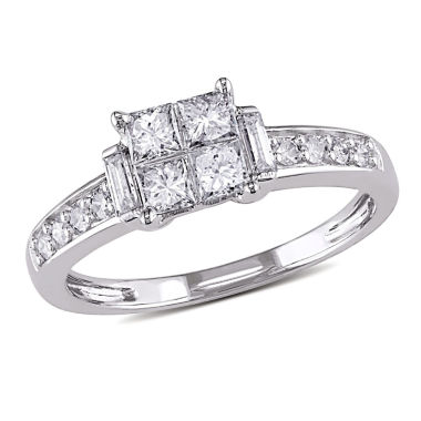 jcpenney.com | 5/8 CT. T.W. Princess White Diamond 14K Gold Engagement Ring