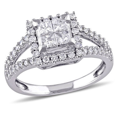 jcpenney.com | 1 CT. T.W. Princess White Diamond 14K Gold Engagement Ring