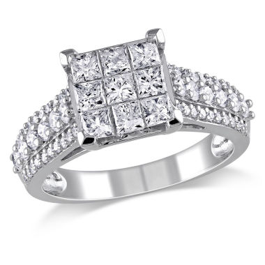 jcpenney.com | 1 1/2 CT. T.W. Princess White Diamond 10K Gold Engagement Ring