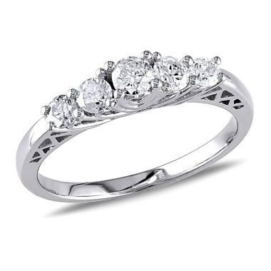 jcpenney.com | 1/2 CT. T.W. Round White Diamond 10K Gold Engagement Ring