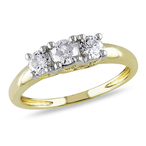 1/2 CT. T.W. Round White Diamond 14K Gold 3-Stone Ring