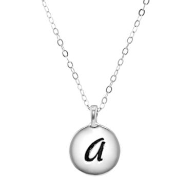 jcpenney.com | Personalized Sterling Silver Round Initial Disc Engraved Pendant Necklace