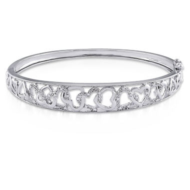 jcpenney.com | Womens Diamond Accent White Diamond Accent Sterling Silver Bangle Bracelet