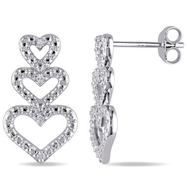 jcpenney.com | Diamond Accent White Diamond Accent Sterling Silver Drop Earrings