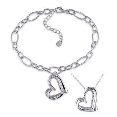 jcpenney.com | Womens 2-pc. Diamond Accent White Diamond Accent Sterling Silver Jewelry Set