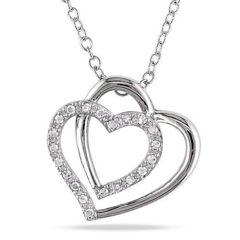 1/10 CT. T.W. White Diamond Pendant Necklace