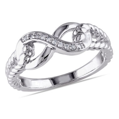 jcpenney.com | Womens Diamond Accent White Diamond Accent Sterling Silver Cocktail Ring