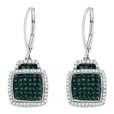 jcpenney.com | 3/4 CT. T.W. Blue Diamond Drop Earrings