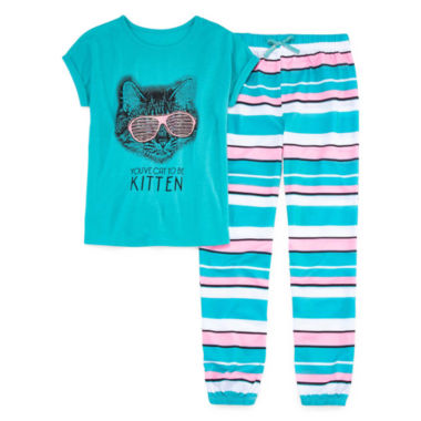 jcpenney.com | Total Girl Girls Short Sleeve Pant Pajama Set-Big Kid