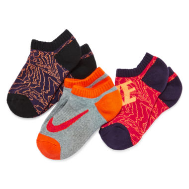 jcpenney.com | Nike® 3-pk. Graphics No Show Socks - Boys