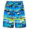 Zeroxposur Boys Frenzied Shark Stripes Swim Trunks-Big Kid