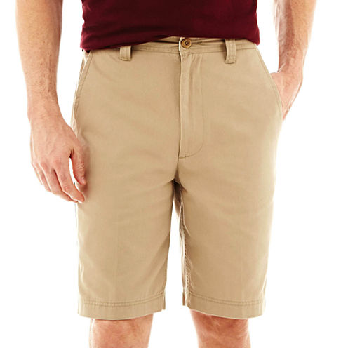 St. John's Bay Legacy Flat Front Stretch Short (Multiple Colors)
