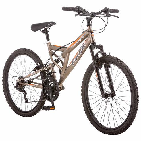 "Pacific Derby 24"" Boys Full Suspension Mountain Bike"