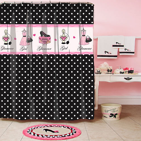 Glamour Girl Polka Dot Shower Curtain