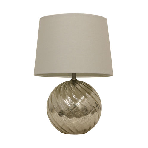 Décor Therapy Silver Mercury Swirl Glass Table Lamp