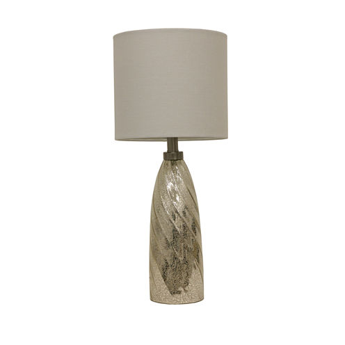 Décor Therapy Silver Mercury Swirl Taper Table Lamp