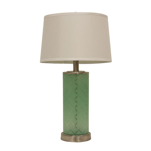Décor Therapy Etched Glass Table Lamp