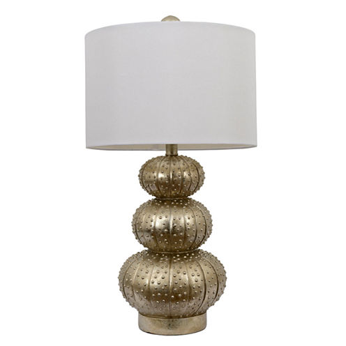 Décor Therapy Silver Leaf Sea Urchin Lamp
