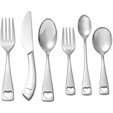 jcpenney.com | Oneida® Little Love 6-pc. 18/10 Stainless Steel Baby Progress Flatware Set