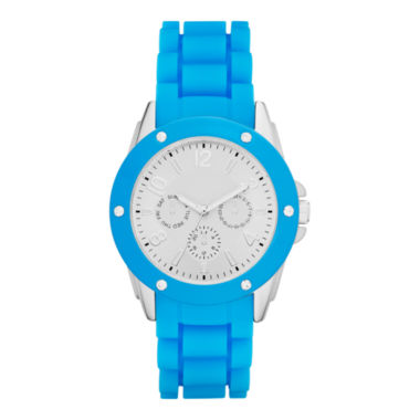 jcpenney.com | Womens Crystal-Accent Faux Chronograph Watch