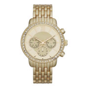 Womens Faux Chronograph Bracelet Watch
