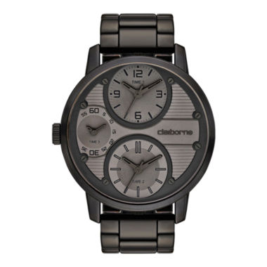 jcpenney.com | Claiborne Mens Oversized Dial Black Watch