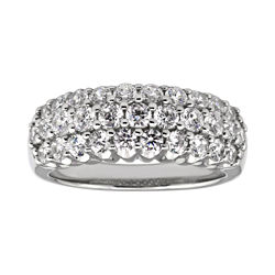 DiamonArt® Cubic Zirconia 3-Row Band