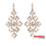 Mixit™ Gold-Tone Clear Glass Kite Drop Earrings