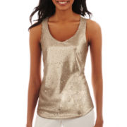 Worthington® Sequin Tank Top - Tall