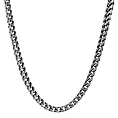 "jcpenney.com | Mens Antiqued Stainless Steel 22"" 5mm Foxtail Chain"