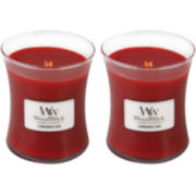 FRAGRANCE OF THE MONTH WoodWick® Set of 2 Medium Cinnamon Chai Candles