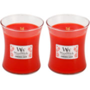 WoodWick® Set of 2 Medium Cinnamon Cheer Candles
