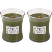 WoodWick® Set of 2 Medium Frasier Fir Candles