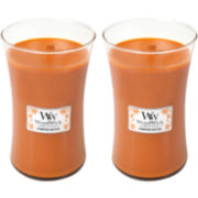 WoodWick® Set of 2 Large Pumpkin Butter Jar Candle