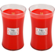 WoodWick® Set of 2 Large Cinnamon Cheer Candles
