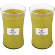 WoodWick® Set of 2 Large Willow Candles