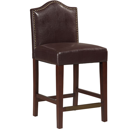 Oxford Upholstered Barstool with Nailhead Trim