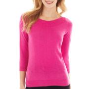 Worthington® 3/4-Sleeve Boatneck Sweater